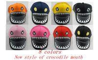 Wholesale New Style Snapbacks Hats Crocodile Mouth Adjustable Hat Popular children hat Baseball cap Big shark teeth baby boomer cap Bady hats