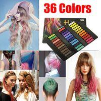 Wholesale 36 Colors Easy Temporary Pastel Non toxic Hair Chalk Dye Soft Hair Pastels Kit DIY Painting Kit