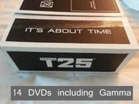 Cheap New Arrival T25 Focus 14 DVDs Crazy Shaun T Healthy Exercise Body DVD Workout Set Bodybuilding Sports DVD With Resistance Band and Gamma