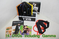 Cheap T25 Focus Exercise & Fitness Videos 14 DVDs Program Fitness Slimming Teaching Video Alpha Beta Gamma Core Speed DHL Free Shipping