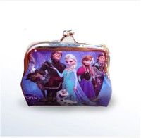 Wholesale Hot Girls D Cartoon Frozen Coin Purse with iron button Anna Elsa Olaf shell bag wallet Purses children child Gifts For Holidays Christmas