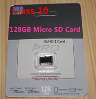 Tarjeta micro SD SDHC del paquete al por menor de la tarjeta de memoria del TF de la tarjeta micro de la tarjeta micro de la tarjeta de la tarjeta de la tarjeta de la tarjeta de la tarjeta de la tarjeta de memoria del TF de 128GB 64GB 32GB para el dropshipping libre del teléfono móvil garantía de 1 año