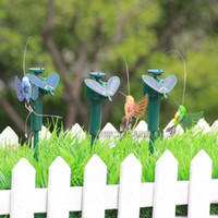Wholesale 2014 Hot dynamic Solar hummingbirds romantic Home and Romantic Garden Decorations Kids Toy Flying Butterflies Patio Lawn gift A176L