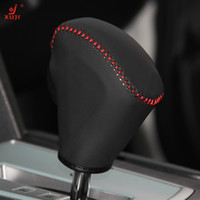 Wholesale Gear Shift Knob Cover for Subaru Legacy Outback Automatic XuJi Car Special Hand stitched Black Genuine Leather Covers