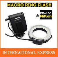 Wholesale Meike FC Macro Ring Flash Light for Nikon D7100 D7000 D5200 D5100 D5000 D3200 D3100 D3000 D800 D600 D300s D200 D90 D80 D60