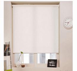 Blackout Roller Blinds in Milk White Popular Modern Curtains for Living Room 7 Colors