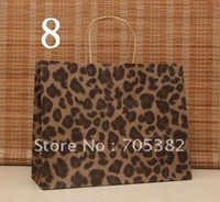 Paper Recyclable ss-19 Big Size Leopard Shopping paper bag, 33X26X12CM,Janpan technical,Kraft paper bags with handle, gift bag,Wholesale price(SS-197)