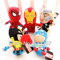 Cheap Wholesale 100 Lot (a set = 5 pcs) 5 Figures The Avengers Plush Toy Soft Stuffed Doll Toys 7