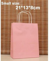 Paper Recyclable ss-476 21*13*8cm,Fashion Pink gift paper bag,paper bags with handle, Christmas bag, Wholesale price, Free shipping(ss-476)