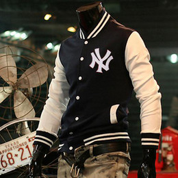 Wholesale Hot Men s Fashion The New Classic Letter Baseball Uniform Jackets Coat w05