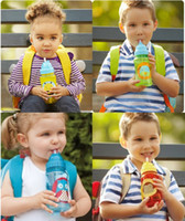 Wholesale Brand New Kids Straw Water Bottle ZOO Lovely Children Drink Bottles Space Cup Kettle Kids Cup