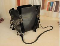 Shoulder Bags Women Plain 2013 New Arrival Designer Hand Bags Retro Tassel Rivet Shoulder Bags Skull Kito Bucket Bag Women Handbags