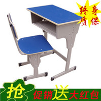 Wholesale Student desks and chairs single student desks and chairs factory direct training school desks and chairs remedial classes
