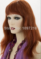 Cheap Burgundy Synthetic Hair Wigs Best Natural Wave Synthetic hair Capless Wigs