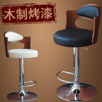 Wholesale 2 authentic fashion simple wooden chair home chair lift bar stool bar tall bar chairs AJ125