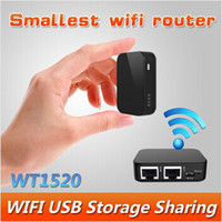 Wholesale World smallest Nexx WT1520H portable mini WIFI repeater USB flash drive wireless router repeater English interface DZ0008
