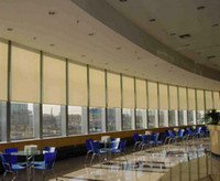 Wholesale retail PVC polyester beige transparent sun screen shade customized roller blinds window curtains for kitchen