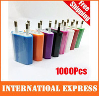 Car Chargers For Apple iPhone For EU HOT SALE! High quality new 1000pcs lot EU Plug 5V 1A AC Power USB Wall Charger For iPhone 4 4S 3GS i DHL Free Shipping