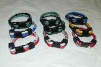 Wholesale New Titanium bracelet rope loop bracelet Team silicone nylon tornado triple bracelets Fashion jewelry
