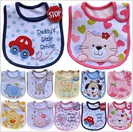 Wholesale New hot sale Infant saliva towels layer Baby Waterproof bibs Baby wear accessories kids cotton apron handkerchief children animal bib gmy