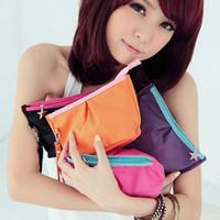 Solid Fashion Zipper Korean Women Lady's Makeup Case MP3 Phone Cosmetic Storage Pouch Small Coin Purse Mini cosmetic bag organizer handbag Wholesale