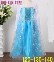 TuTu Summer Pleated 3 Pcs Lot 2014 Fashion Summer Baby Girl Child Kids Party Long Sleeve Princess Diamond Snow Costume Cosplay Dance Frozen Elsa Dress H0140758