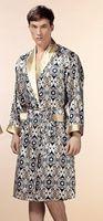 Wholesale new Silk satin sleepwear silk spa robes mulberry silk sexy mens luxury bathrobe dressing gown plus size XXL pajama