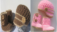 baby socks crochet pattern - 6 ff Crochet pattern Settings the buckle baby socks months baby visor hat newborn baby girl no eaves DROP SHIPPING set