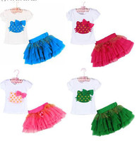 age cats - Baby s Girls T Shirt Tutu skirt Suit Set Cotton Lace Clothing Cat Cartoon Bow Dress Children s Kids Party Outfits Age Years