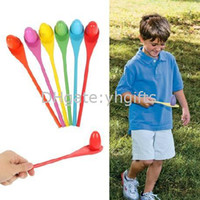 Baby Unisex Learning Machine 6PCS LOT,Wood spoon games,Balance practice games,Sport game toys,Outdoor toys,Birthday gift for kids,Movement alility developing