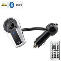 Bluetooth Car Kit Yes LEMFO Bluetooth Car Kit FM Transmitter Modulator LCD Hands-Free Talk Wireless A2DP MP3 Player USB Remote Control USB TF New 2014 5pcs