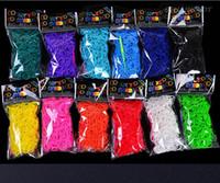 3 & 4 Years Multicolor Plastic charms Loom 300Pcs + 12 S-Clips MIX Colors DIY Rainbow Loom Rubber Bands Bracelet Refills 1000pcs