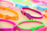 Wholesale rainbow loom Bracelets street snap fluorescent color rainbow color order personality based requisite zipper bracelet bracelet