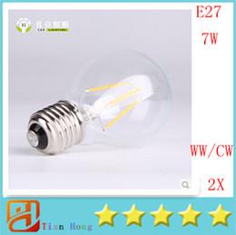 10pcs lot Hot selling NEW filament led bulb E27 7W COB Warm white cold white