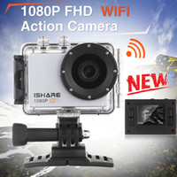 Wholesale iShare S600W WiFi Action Sport Camera FHD P M Waterproof Helmet Sport Video Camera Mini DV Gopro style