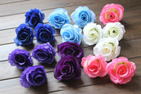 Wholesale NEW ARRIVALS Diameter cm Artificial Silk Half Open Camellia Rose Fabric Peony Artificial Flower Heads for more colors