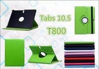 Wholesale For galaxy Tab S case Rotating stand leather case cover with mix color for inch galaxy tab S T800