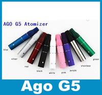 Wholesale Dry Herb Vaporizer Atomizer Ago G5 Tank Clearomizer Herbal Smoke Vapor Thread for Ago Atomizer for Cut tobcco Liquid atb001