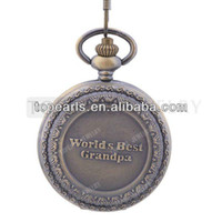 Antique best watches world - Topearl Jewelry Vine Worlds Best Grandpa Quartz Pocket Watch LPW14
