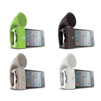 Wholesale 2014 Portable Popular Amplifier Charming Silicone Horm Stand Amplifier for I4 S No External Power High Quality