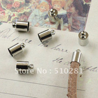 Charms Yes mini123.cn Free shipping!!!!End Bead Caps For 2mm 3mm 4mm Leather Cord Jewelry Finding