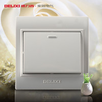 Wholesale Delixi switch socket Ming Ming junction box mounted single billing control switch single joint wall surface mounted switch panel