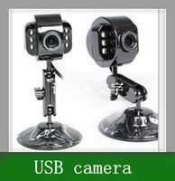 Guangdong China (Mainland) Yes ≤ 1 Mega 5pcs Free Shipping Computer camera night vision 1200W HD webcams USB camera video full steel