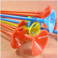 Multicolor Long PVC Free Shipping 100pcs 32cm Plastic Balloon Holder Sticks Multicolor Cup For Wedding birthday Party Decoration New