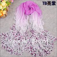 Wholesale New women spring summer sun shade shawl striped spell leopard thin long scarf chiffon printing scarves