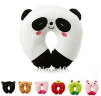 100% Cotton Adults Neck neck pillow 20pcs 4inch 10cm lovely Plush toy cartoon animal car u pillow neck pillow siesta small pillow hot sale