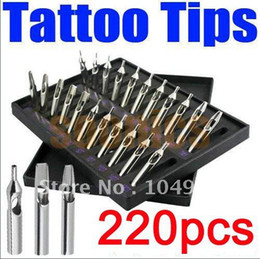 Wholesale FT RT DT Pro Tattoo Supply Stainless Steel Tips Nozzles Kit Set for Grip Machine Free Express sets