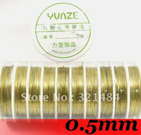 Other Jewelry Findings China (Mainland) Free shipping!!! 0.5mm 10piece (each piece about 9meter) Jewelry DIY Findings - Gold Plated Color Beading Copper Wires