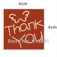 huanyu Acrylic Kraft Paper thank you stickers 4.0cm Red kraft paper, envelope seals, stickers