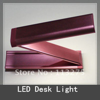 Shadeless Modern Wall Mouted Red 2.5W Aluminum Portable Folding LED Desk Lamp energy saving LED table light